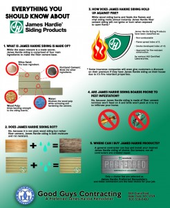 James Hardie Siding Infographic by Good Guys Contracting on Long Island NY