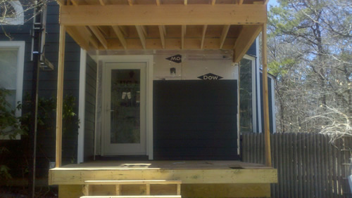 Deck & Siding Being Remodeled by Good Guys Contracting