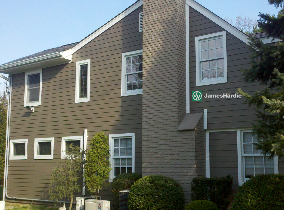 Gray James Hardie Siding from Good Guys Contracting
