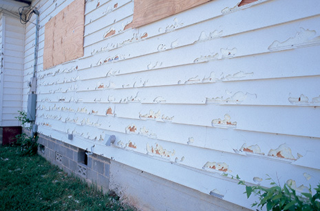 Wind Damaged Siding from Good Guys Contracting