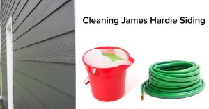 Cleaning Siding with ease.