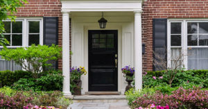 Portico on your front entranceway.
