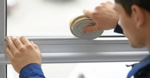 Sealing your window.