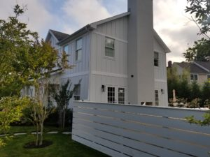 after construction photo of exterior home from chimney angle