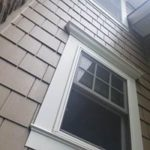 after construction photo of custom window trim